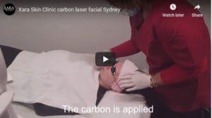 Carbon black doll gold mask laser rejuvenation facial Sydney